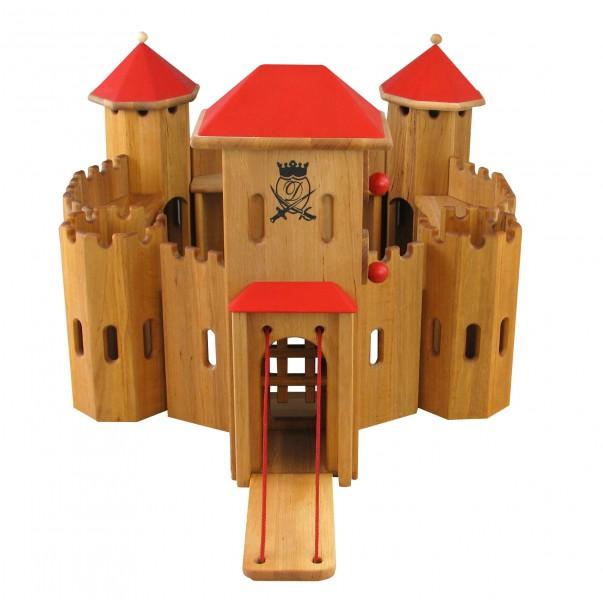 931 320 ritterburg aus holz massiv burg von drewart kologisches holzspielzeug. Black Bedroom Furniture Sets. Home Design Ideas