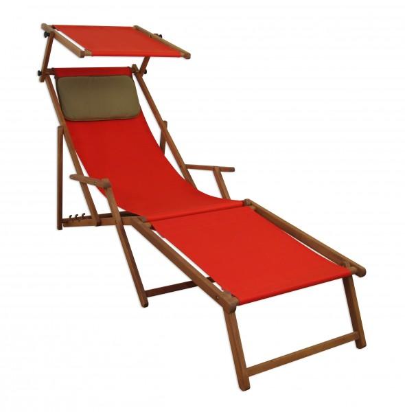 10 308 f kd s chaise longue en bois avec repose pieds oreillers et toit ouvrant ebay. Black Bedroom Furniture Sets. Home Design Ideas