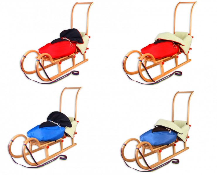 2177 w klappschlitten 125 schubstange fu sack lammwolle rodelschlitten rodel ebay. Black Bedroom Furniture Sets. Home Design Ideas