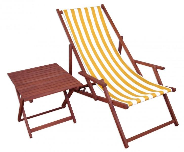 10 319 t liegestuhl buche dunkel mit tisch klappbar sonnenliege ebay. Black Bedroom Furniture Sets. Home Design Ideas