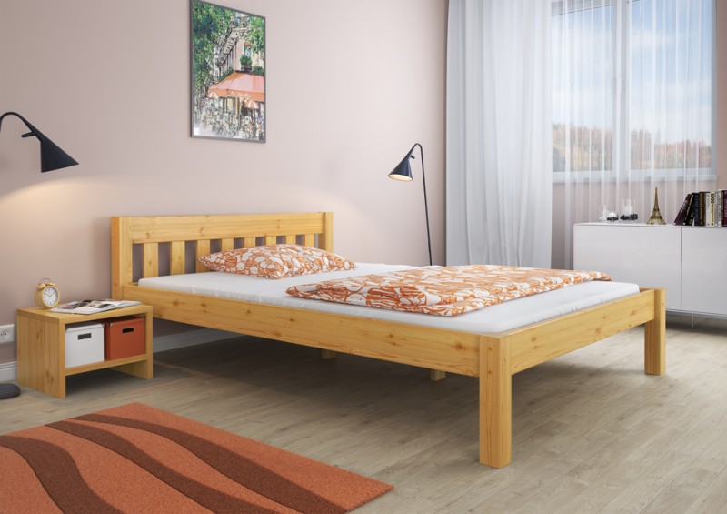bett jugendbett futonbett kiefer massiv 140x200 ohne lattenrost or ebay. Black Bedroom Furniture Sets. Home Design Ideas