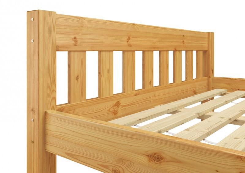 einzel bett kiefer massivholz bett 120x200 cm jugendbett mit rollrost ebay. Black Bedroom Furniture Sets. Home Design Ideas