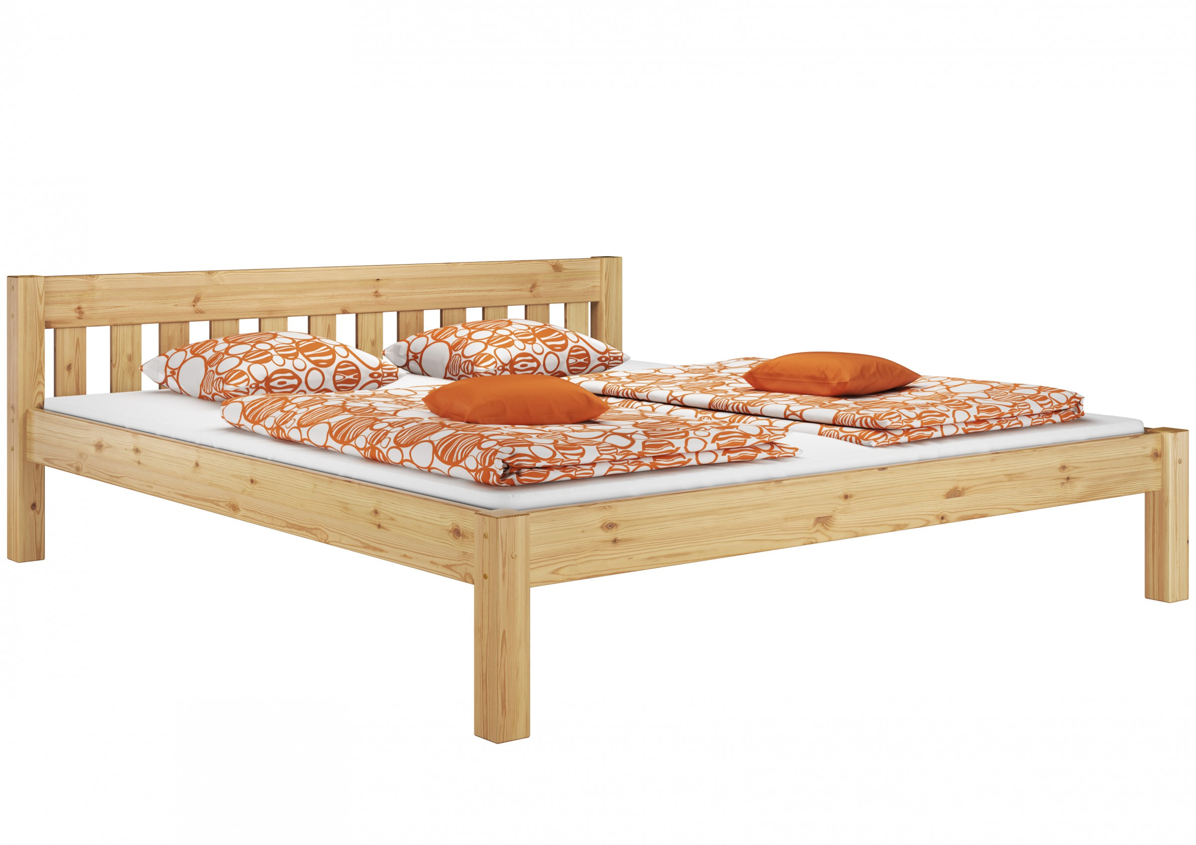 doppelbett futonbett massivholz bett 180x200 cm kiefer natur ebay. Black Bedroom Furniture Sets. Home Design Ideas
