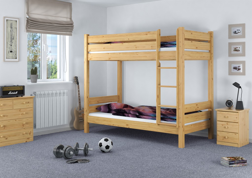 etagenbett stockbett doppelbett hochbett massiv 80x220 teilbar t100 ebay. Black Bedroom Furniture Sets. Home Design Ideas