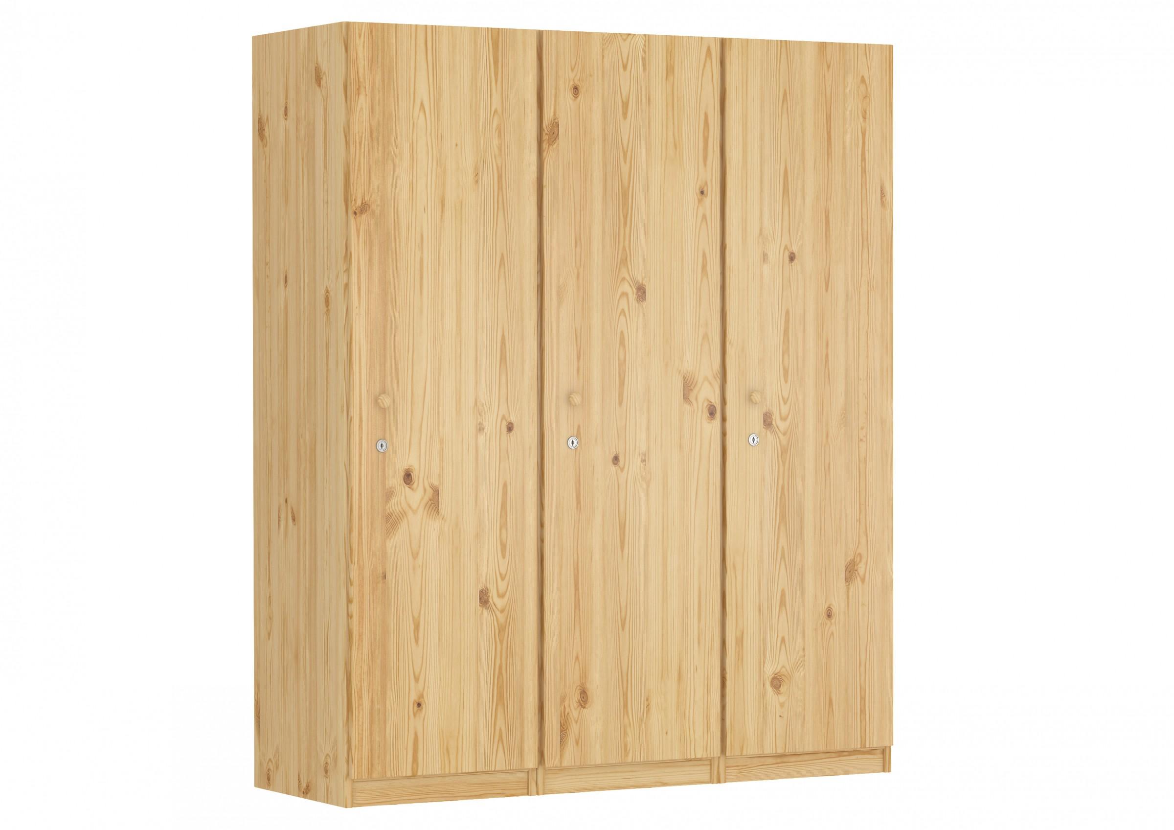 schrank spind kiefer massiv viele f cher und schloss. Black Bedroom Furniture Sets. Home Design Ideas