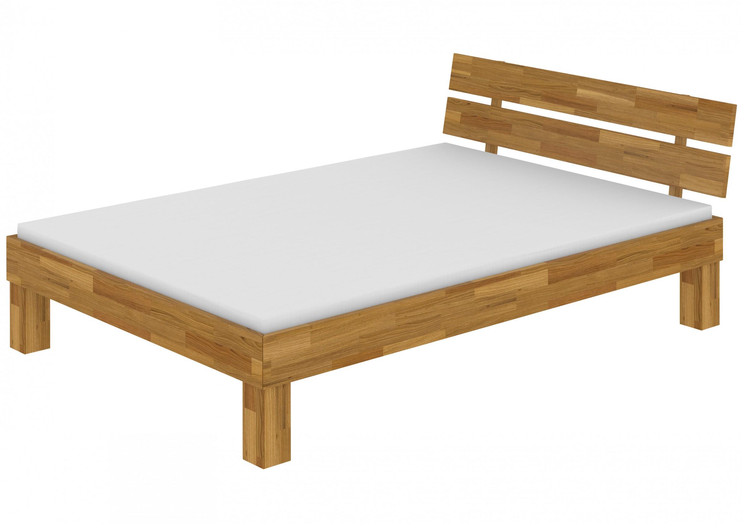 fs m bett 140x200 eiche massiv doppelbett federholzrahmen u matratze ebay. Black Bedroom Furniture Sets. Home Design Ideas