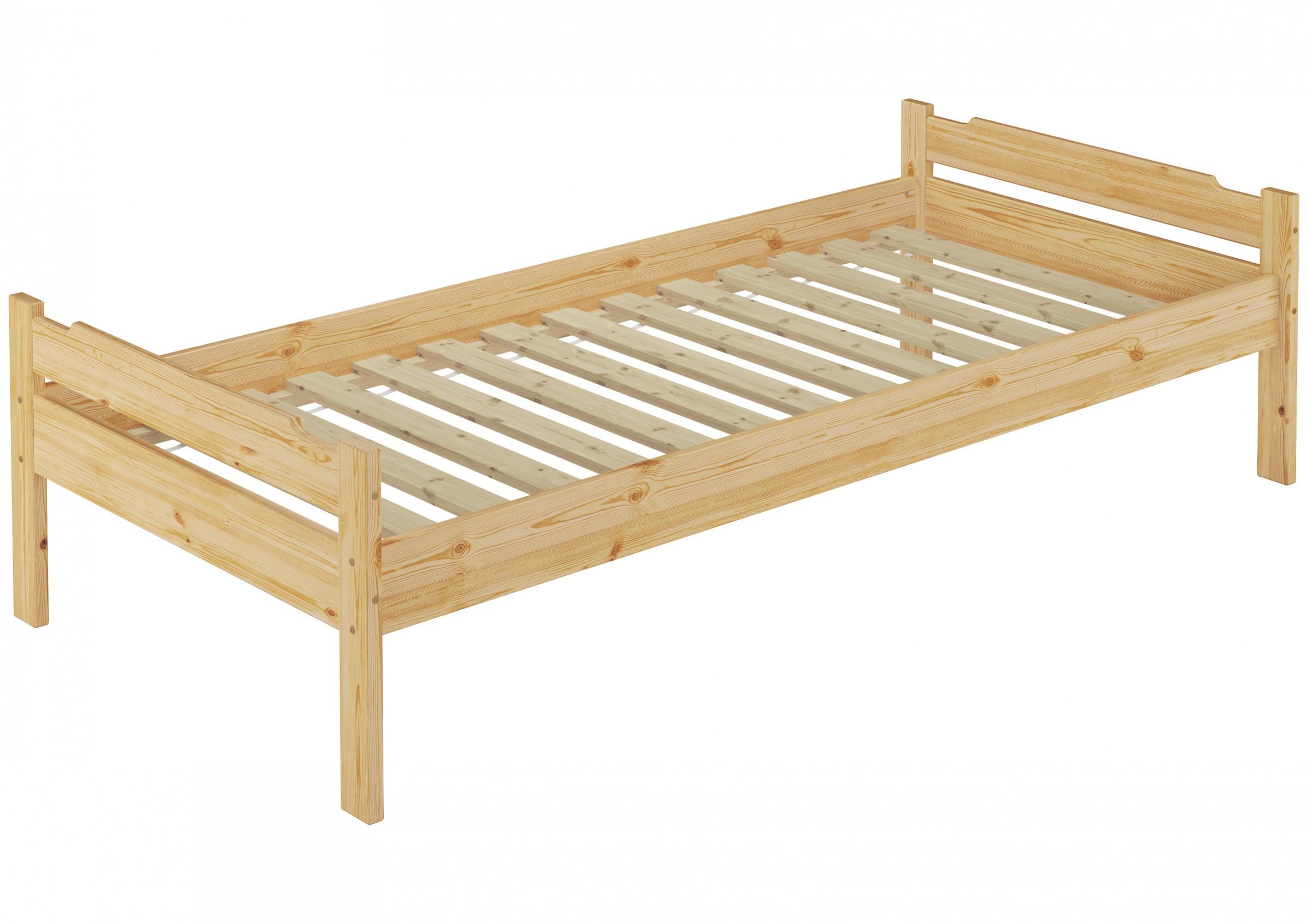 lit une personne lit pour jeunes pin massif 100x200 ch lit avec sommier lattes ebay. Black Bedroom Furniture Sets. Home Design Ideas