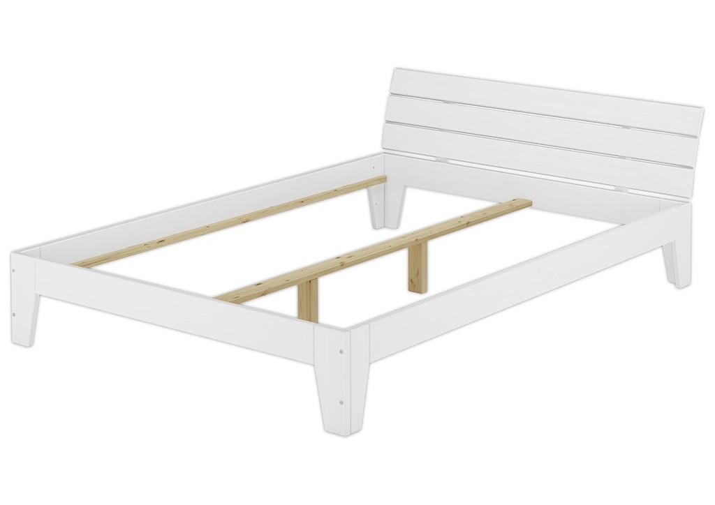 doppelbett 140x200 futonbett jugendbett massivholzbett kiefer wei w or. Black Bedroom Furniture Sets. Home Design Ideas