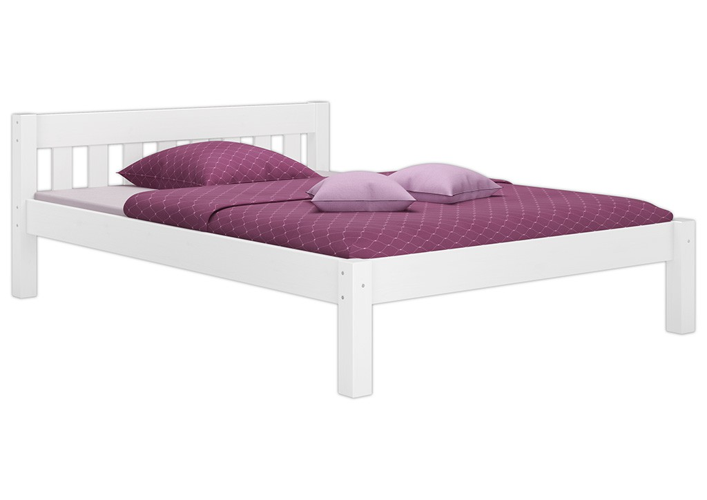 bett doppelbett futonbett wei kiefer massiv 140x200 cm mit rollrost w ebay. Black Bedroom Furniture Sets. Home Design Ideas