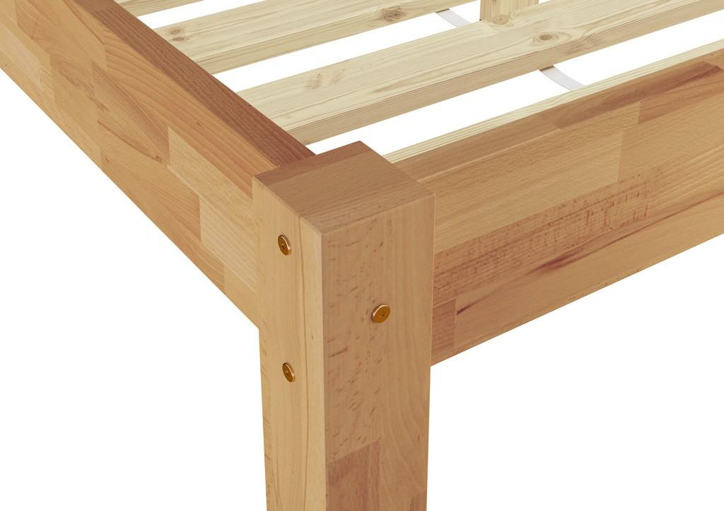 Estructura de cama cama individual madera de haya maciza - Estructura cama individual ...