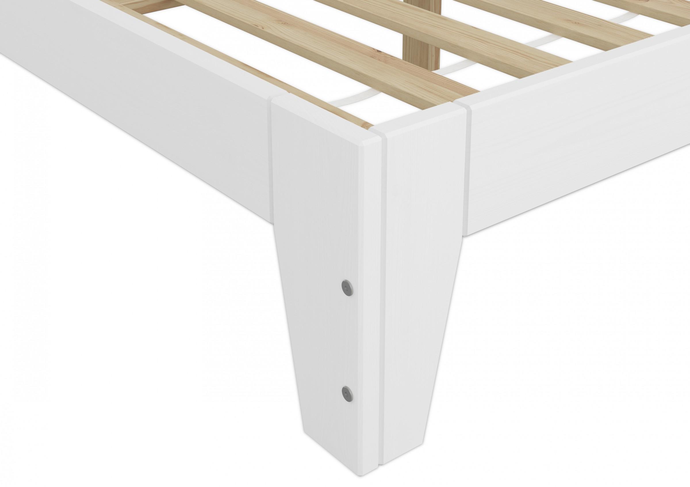 futonbett 120x200 massivholz kiefer bettgestell einzelbett wei w or ebay. Black Bedroom Furniture Sets. Home Design Ideas