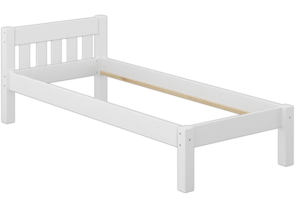modernes einzelbett kiefer wei 90x200 cm futonbett. Black Bedroom Furniture Sets. Home Design Ideas