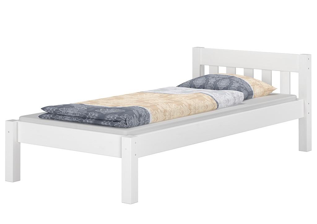 wei es einzelbett kiefer wei 90x200 futonbett jugendbett m rollrost w ebay. Black Bedroom Furniture Sets. Home Design Ideas