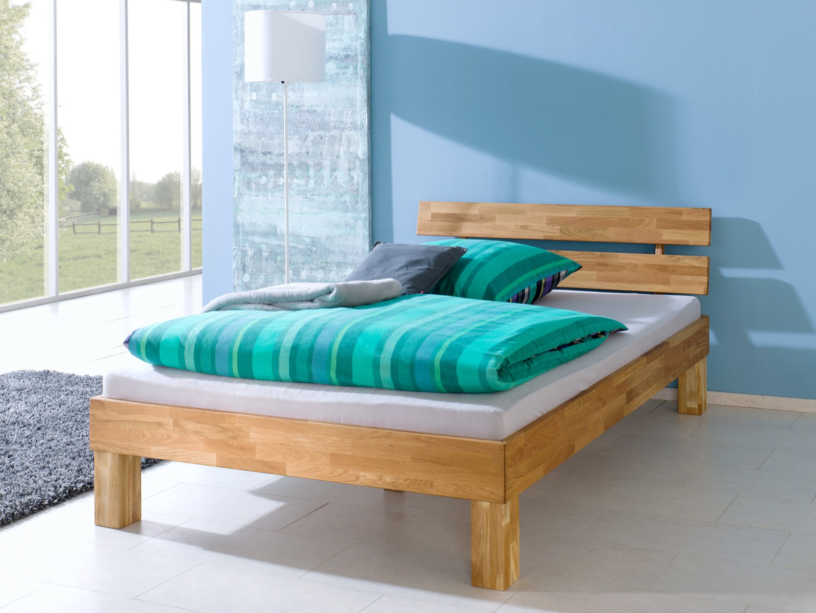massivholzbett buche futon einzelbett 90x200 bettgestell sehr stabil or ebay. Black Bedroom Furniture Sets. Home Design Ideas