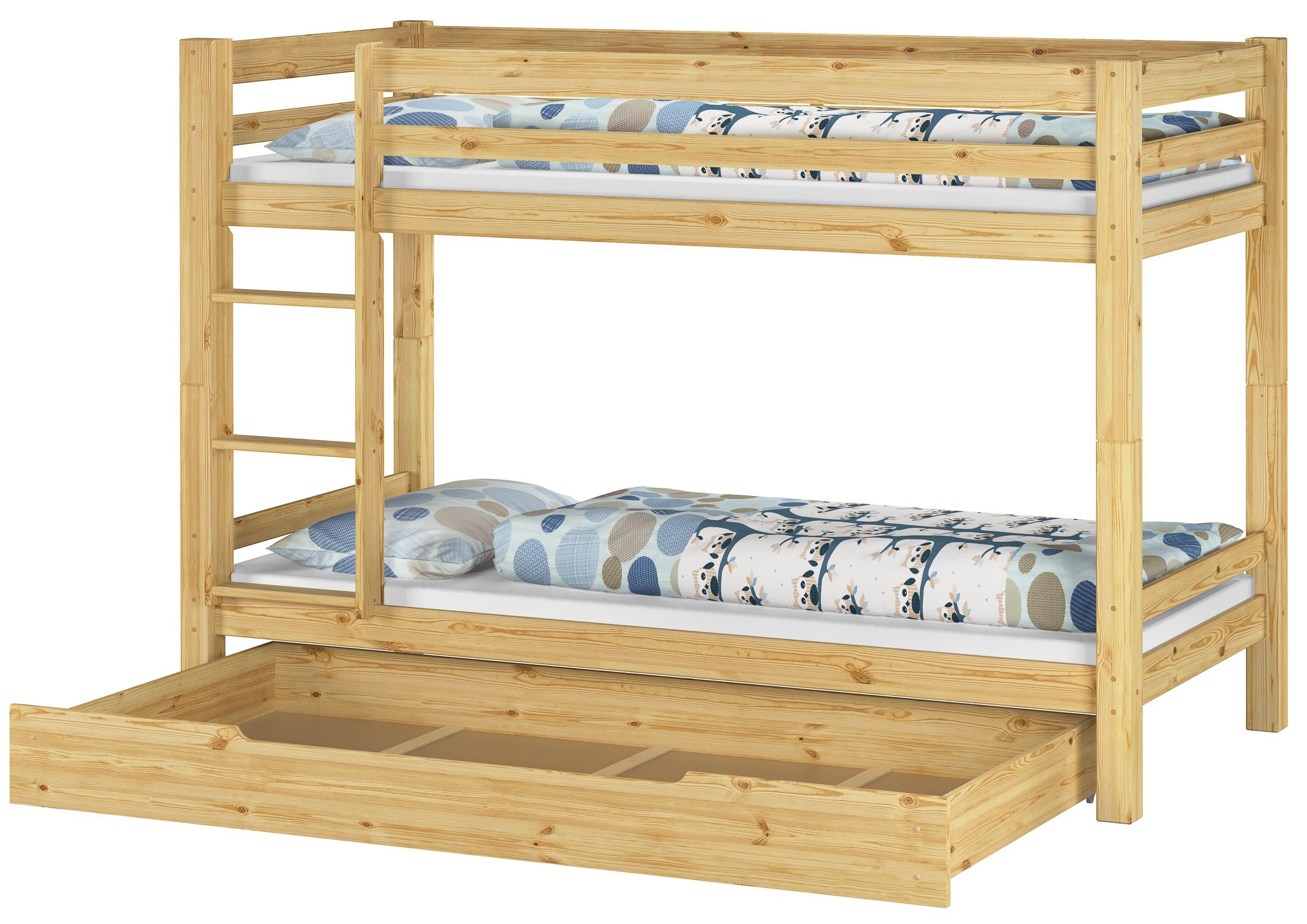 Letto a castello letto a pi piani letto gioco pino 90x200 for Letto a 2 piani