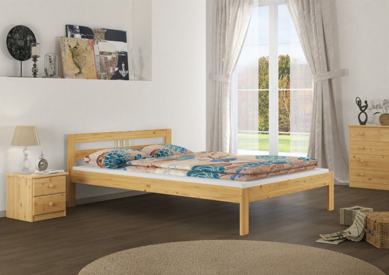 massivholzbett franz sisches bett 140x200 bettgestell ohne rollrost or ebay. Black Bedroom Furniture Sets. Home Design Ideas