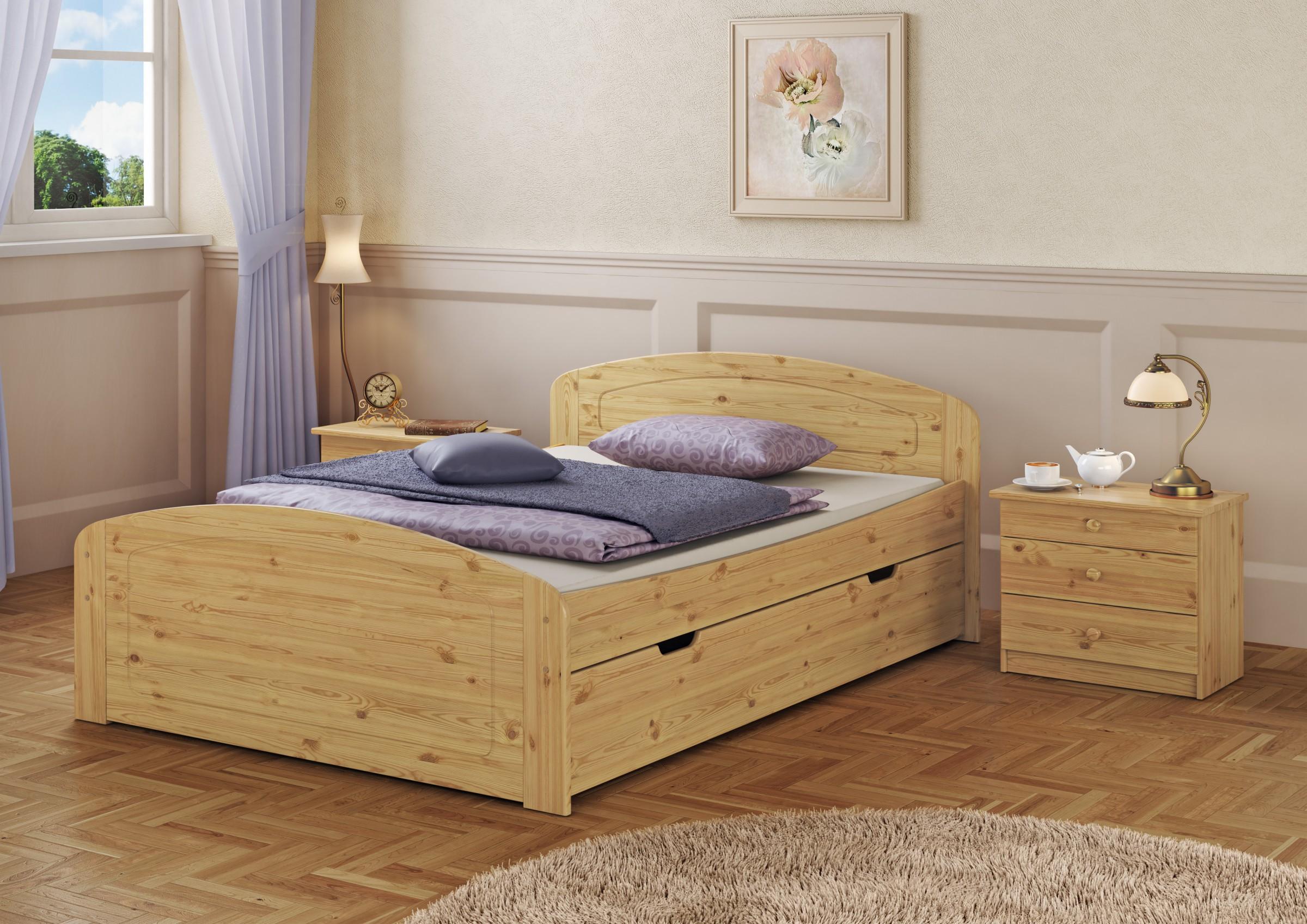 doppelbett 3 bettkasten federholzrahmen 140x200. Black Bedroom Furniture Sets. Home Design Ideas