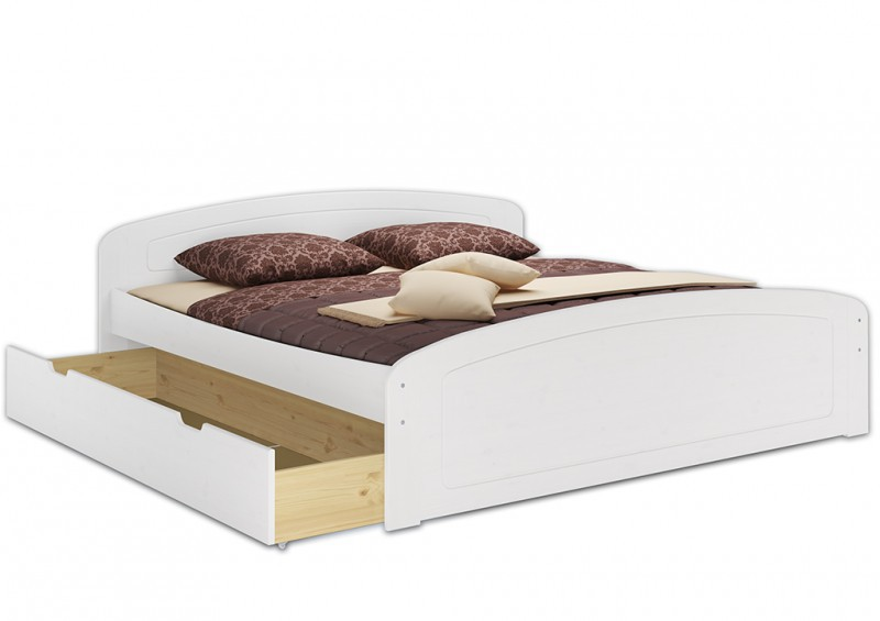 doppelbett 3 bettkasten 180x200 seniorenbett massivholz. Black Bedroom Furniture Sets. Home Design Ideas