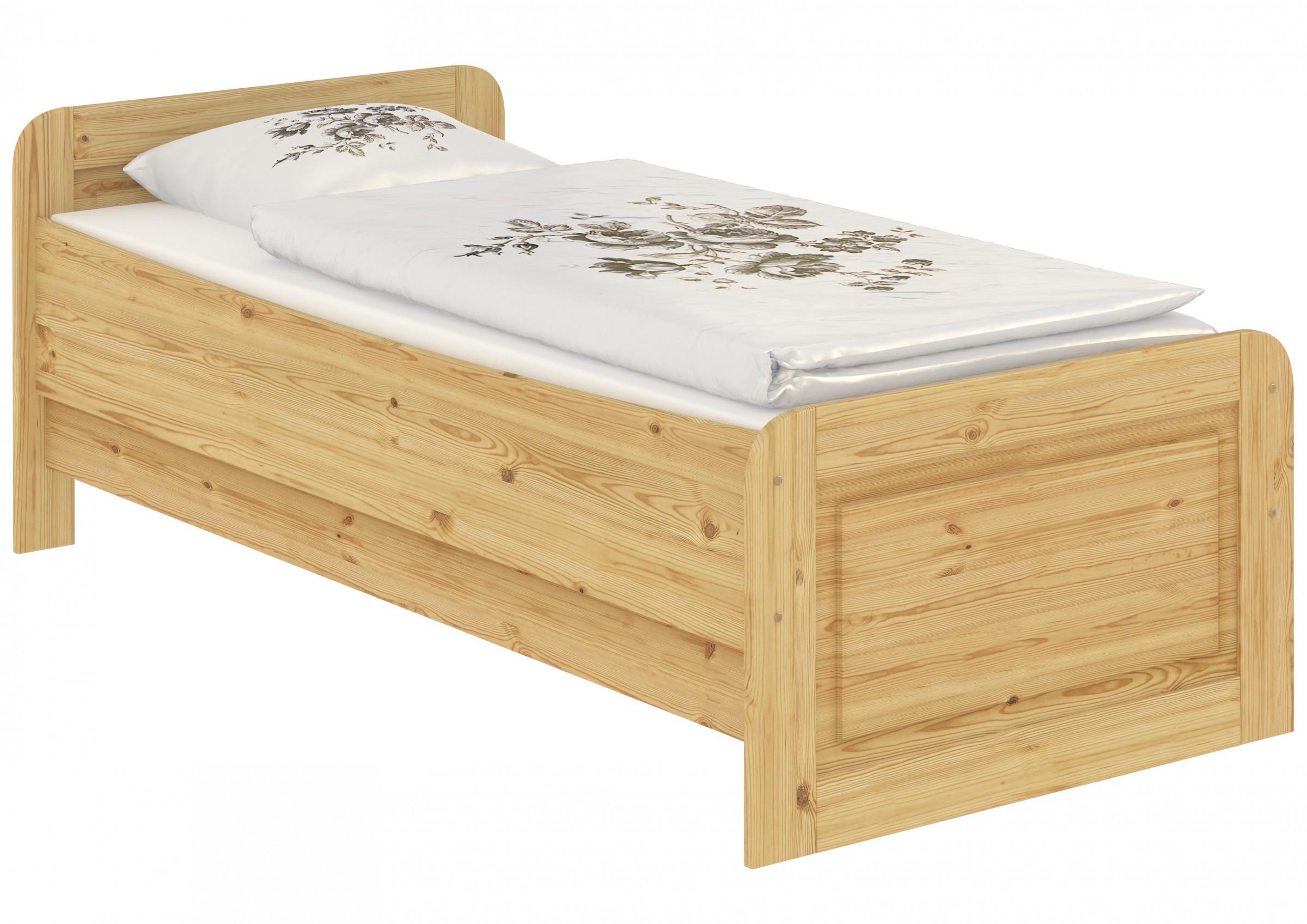 Seniorenbett Extra Hoch 100x220 Einzelbett Holzbett