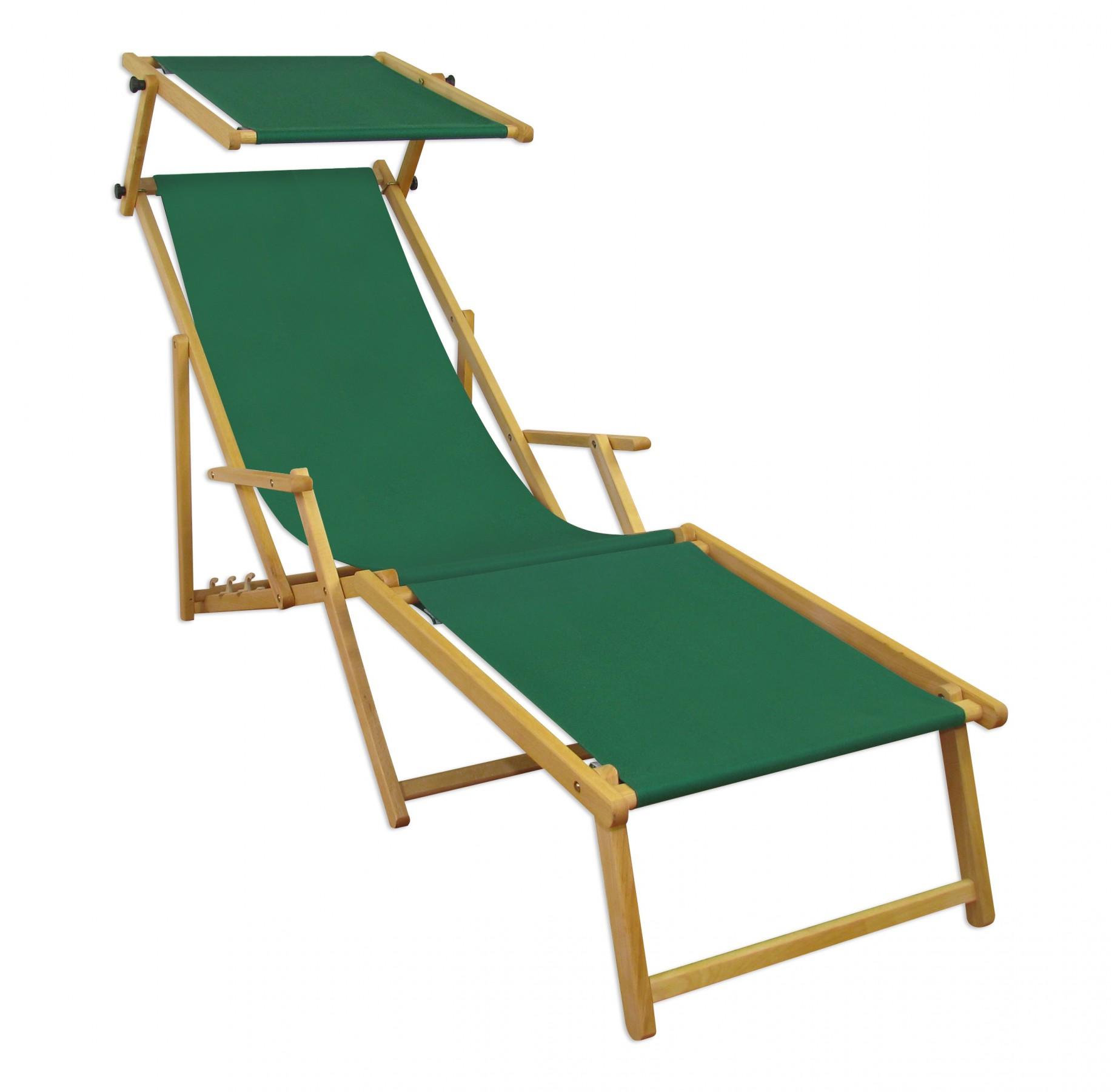 Chaise de jardin terrasse vert longue toit ouvrant bois 10 for Chaise longue jardin verte
