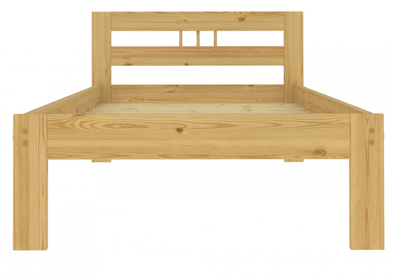 M bett einzelbett kiefer massiv 90x200 futon mit for Bett kiefer massiv