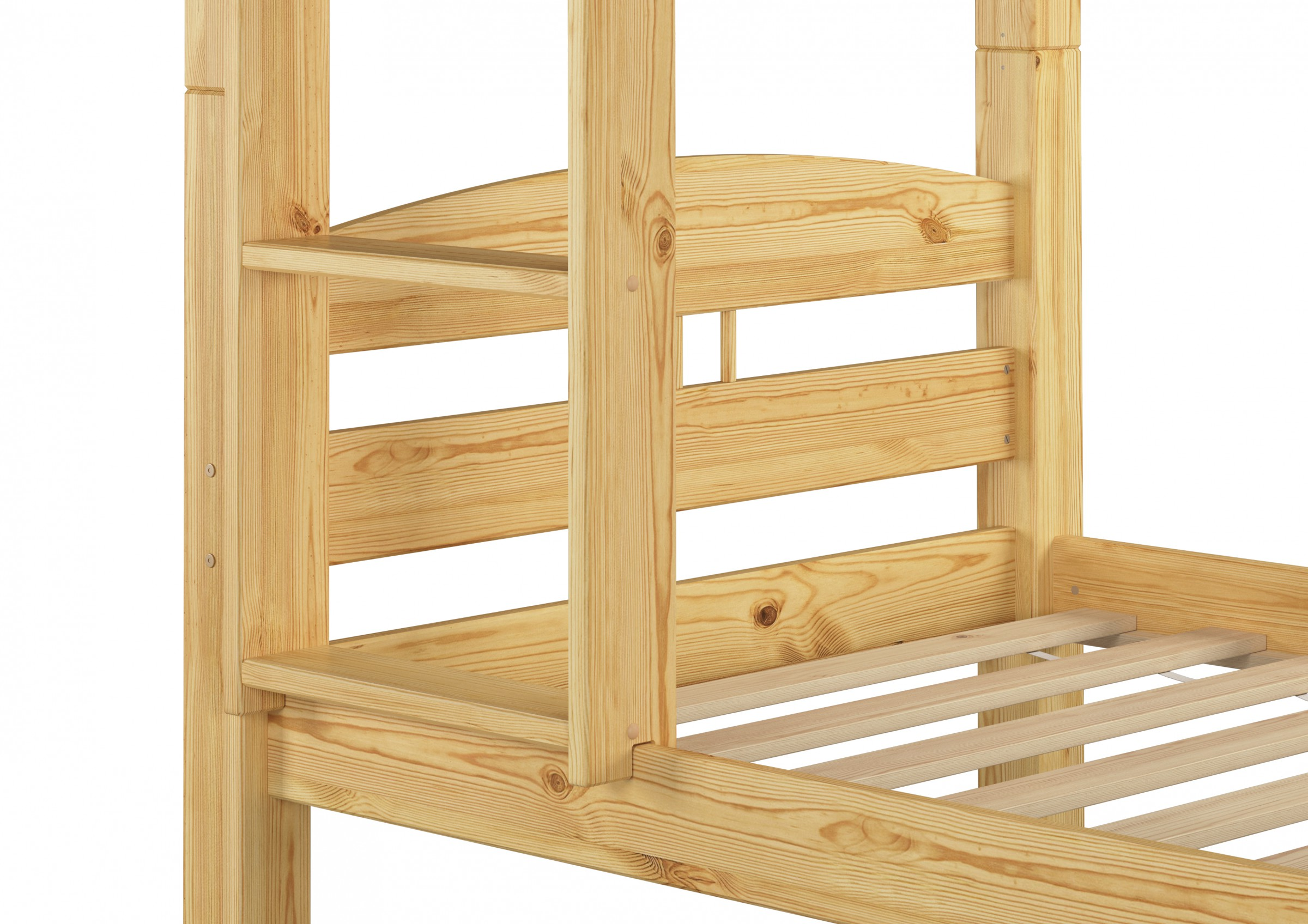 kinderbett etagenbett holzbett stockbett kiefer 90x200 mit. Black Bedroom Furniture Sets. Home Design Ideas