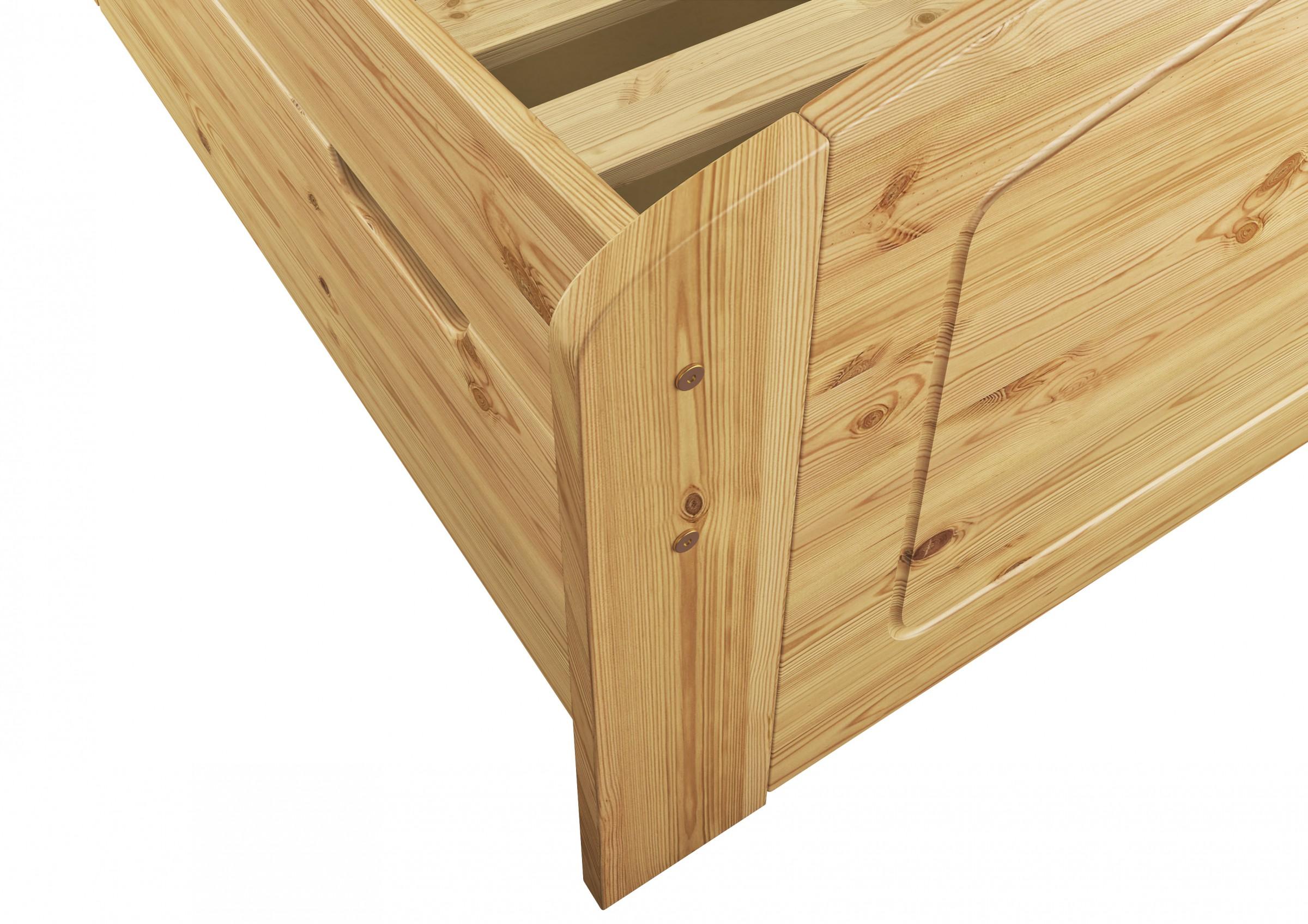 funktionsbett doppelbett 140x200 kiefer bett bettkasten. Black Bedroom Furniture Sets. Home Design Ideas