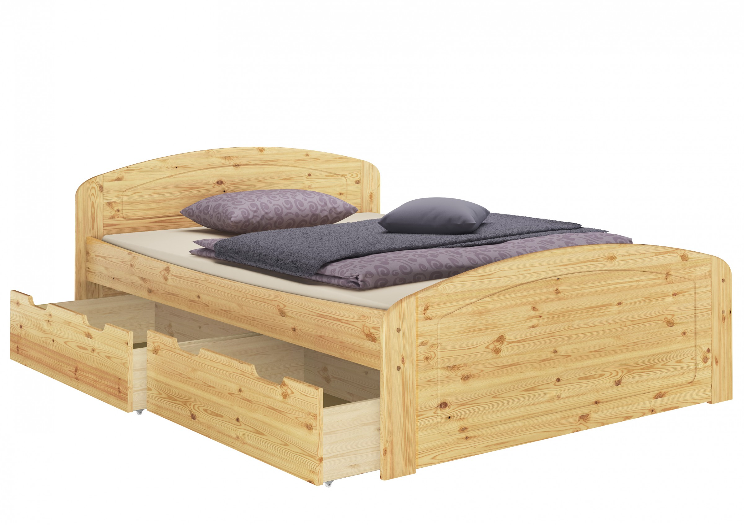 funktionsbett 160x200 holzbett bettkasten rollrost matratze bettzeug mb ebay. Black Bedroom Furniture Sets. Home Design Ideas