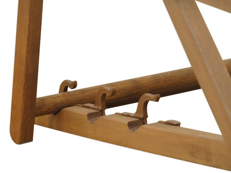 gartenliege wei liegestuhl holz sonnenliege deckchair relaxliege 10 303 ebay. Black Bedroom Furniture Sets. Home Design Ideas