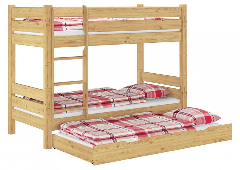 etagenbett stockbett hochbett kinderbett massiv 90x200 teilbar t80 s7 ebay. Black Bedroom Furniture Sets. Home Design Ideas