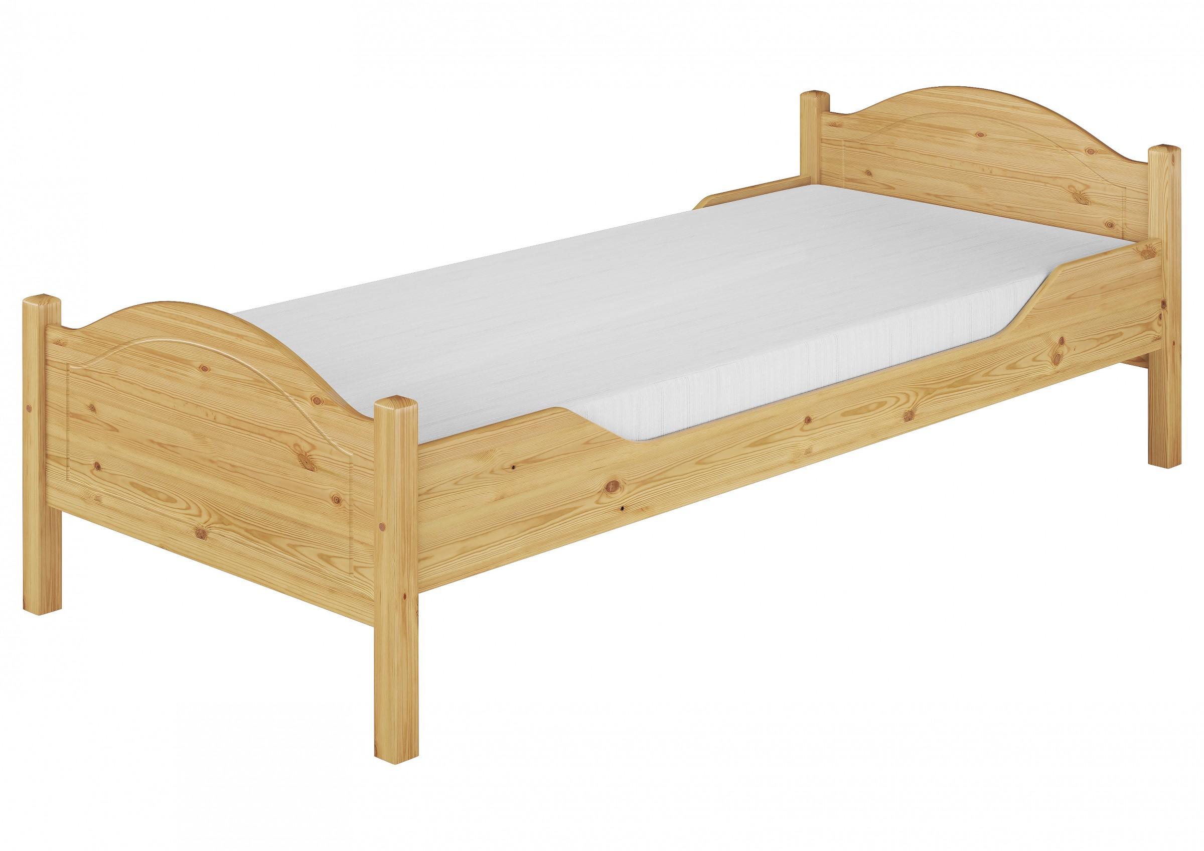 massivholz bett kiefer 100x200 einzelbett g stebett rollrost matratze m ebay. Black Bedroom Furniture Sets. Home Design Ideas