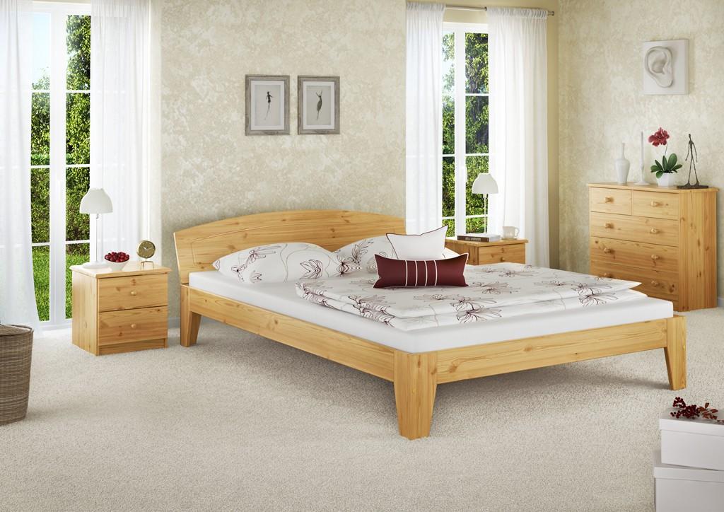 massivholzbett doppelbett bettgestell 140x200 kiefer ohne lattenrost or ebay. Black Bedroom Furniture Sets. Home Design Ideas