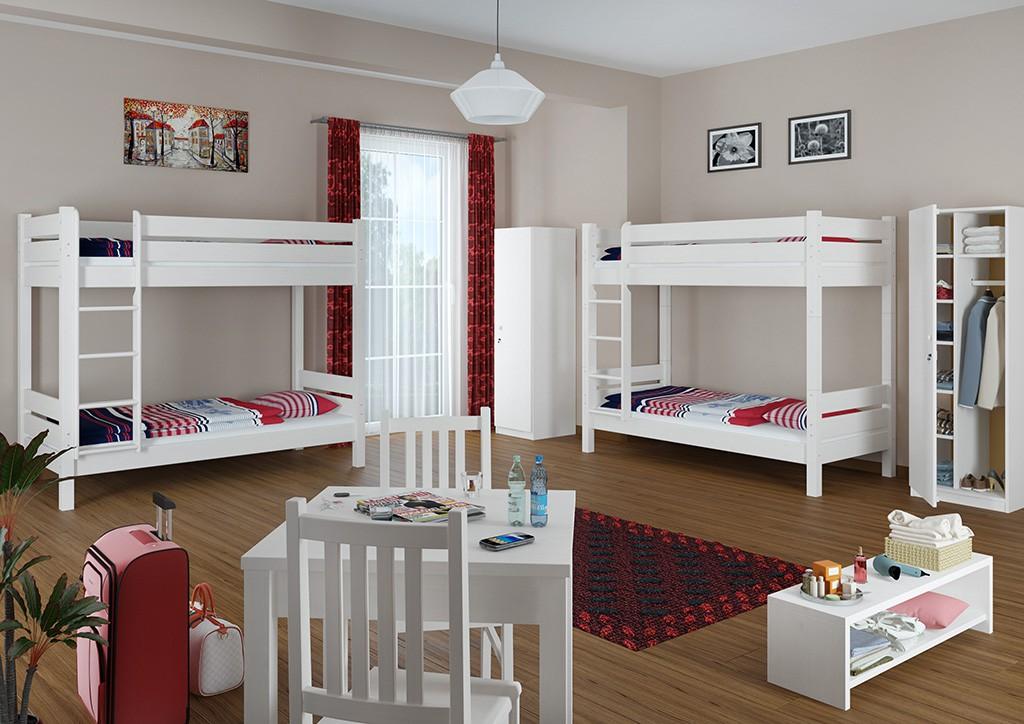 letti a castello per adulti 90x200 divisibile griglia. Black Bedroom Furniture Sets. Home Design Ideas