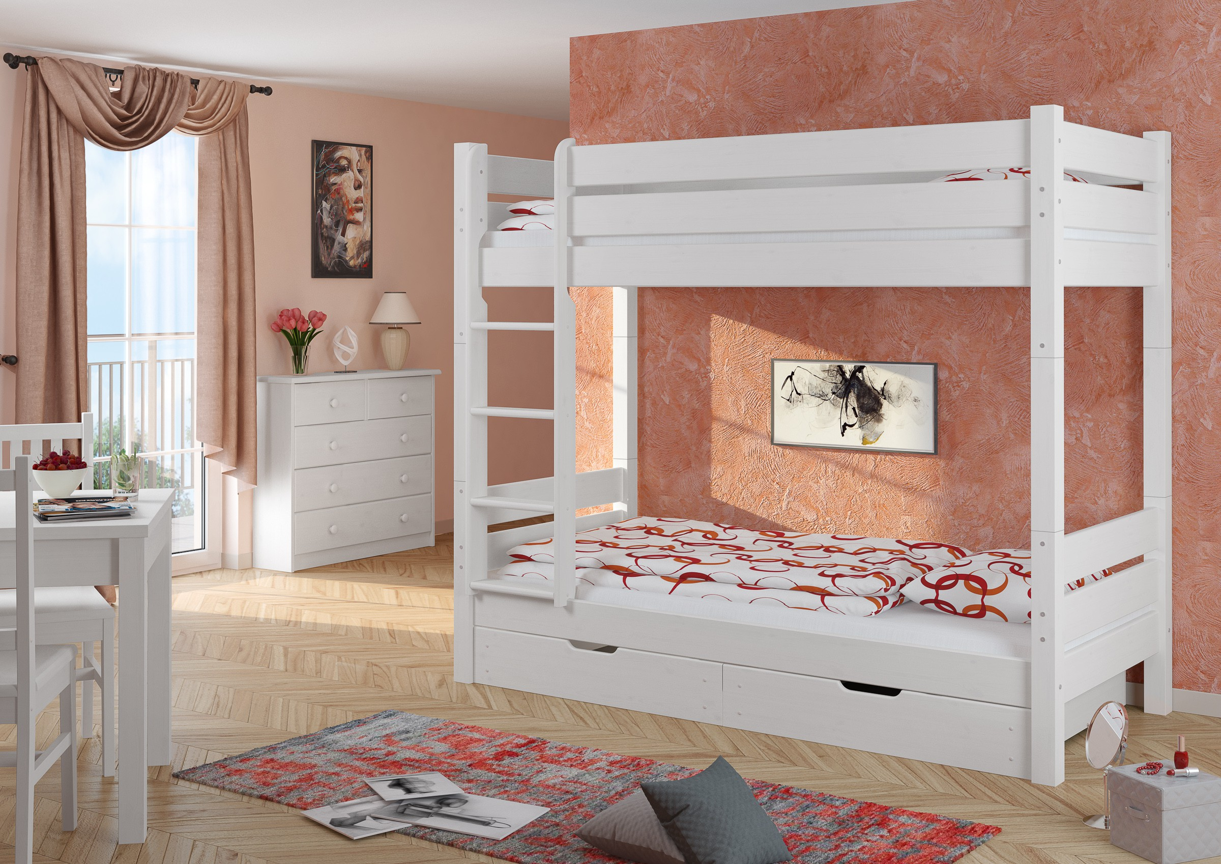 letti a castello per adulti 90x200 divisibile griglia rullo w t100 s2 ebay. Black Bedroom Furniture Sets. Home Design Ideas