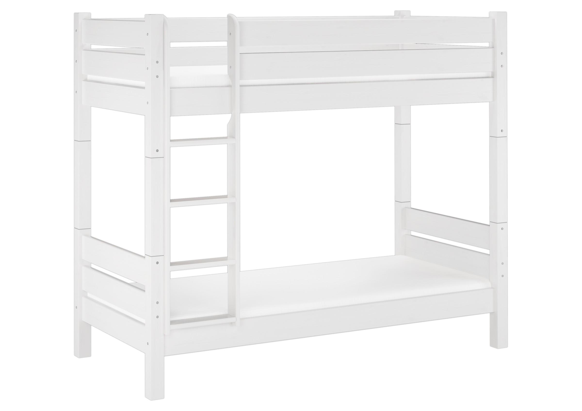 hochbett etagenbett wei 90x200 teilbar 2 rollroste matratzen w t100 m ebay. Black Bedroom Furniture Sets. Home Design Ideas