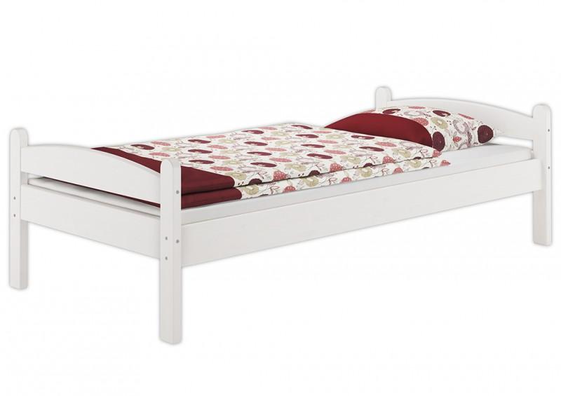 einzelbett stabil kinderbett 80x200 cm kiefer massiv weiss. Black Bedroom Furniture Sets. Home Design Ideas