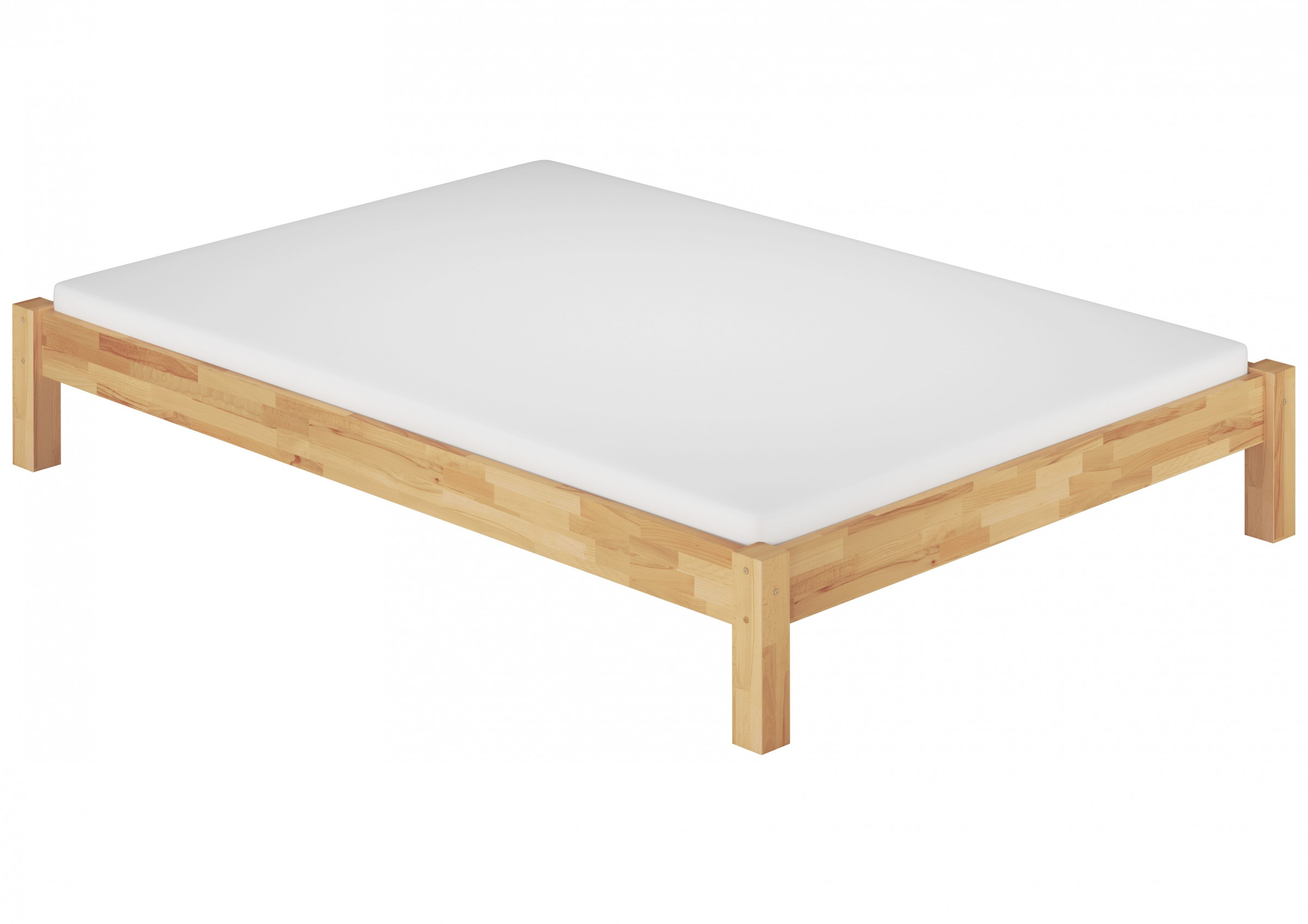 Bett futon doppelbett 180x200 buche massiv for Bett 60 x 180