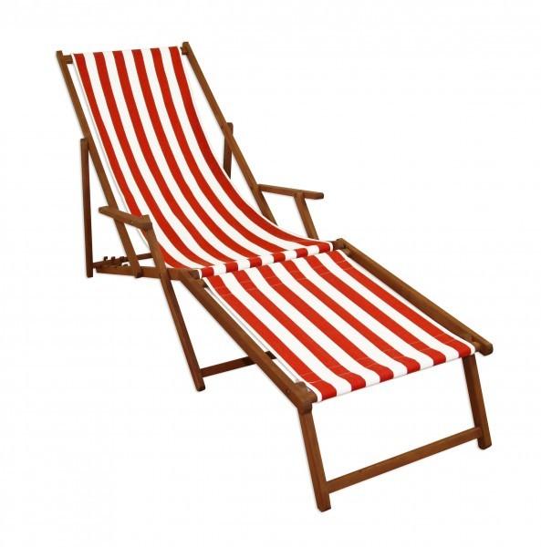 Strandliege liegestuhl deckchair gartenliege sonnenliege fu teil holz 10 314 f ebay - Liegestuhl lidl ...