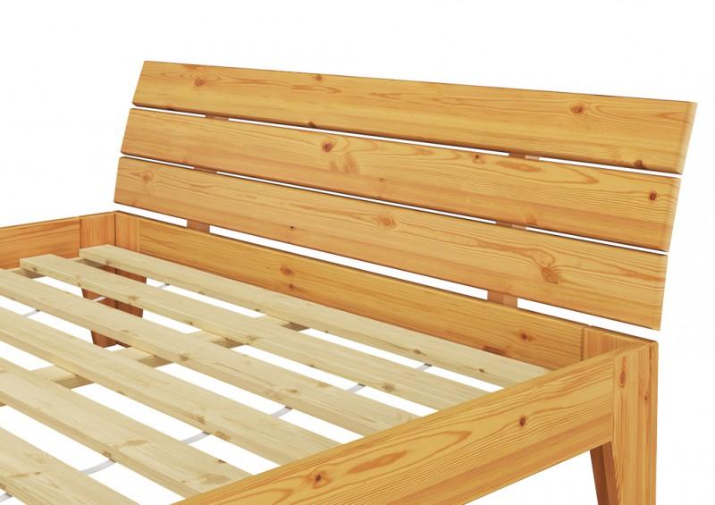 Massivholz bett 140x200 mit rollrost betten naturholz for Bett holz 140x200