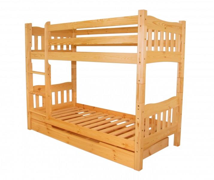Letto a castello letto a pi piani pino massiccio 2 doghe for Letto a 2 piani