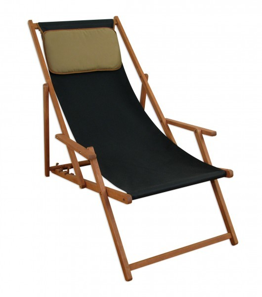 deckchair schwarz holz gartenliege buche sonnenliege liegestuhl kissen 10 305 kd. Black Bedroom Furniture Sets. Home Design Ideas