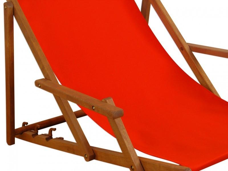liegestuhl rot gartenliege buche deckchair holz sonnenliege mit tisch 10 308 t ebay. Black Bedroom Furniture Sets. Home Design Ideas