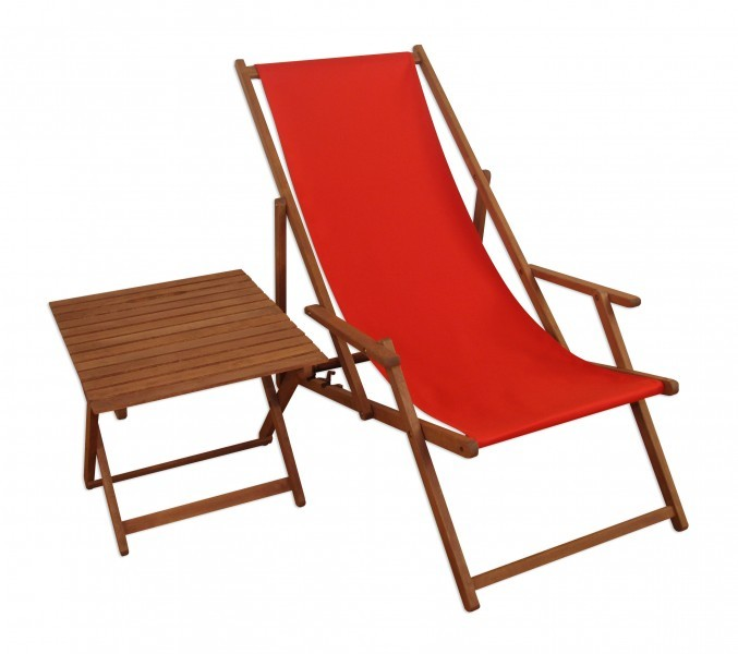 liegestuhl rot gartenliege buche deckchair holz. Black Bedroom Furniture Sets. Home Design Ideas