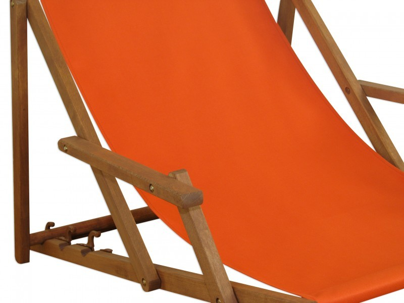 strandstuhl klappbar liegestuhl holz massiv deckchair terracotta liege 10 309 ebay. Black Bedroom Furniture Sets. Home Design Ideas