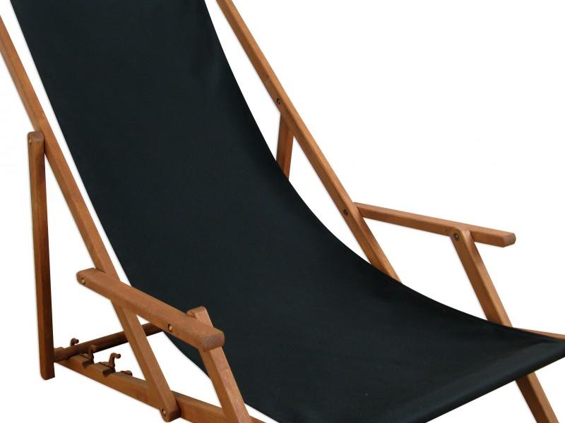 liegestuhl holz buche deckchair sonnenliege gartenliege schwarz tisch 10 305 t ebay. Black Bedroom Furniture Sets. Home Design Ideas