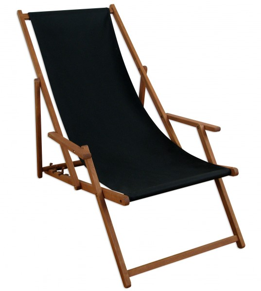 liegestuhl holz buche deckchair sonnenliege gartenliege schwarz tisch 10 305 t ebay. Black Bedroom Furniture Sets. Home Design Ideas