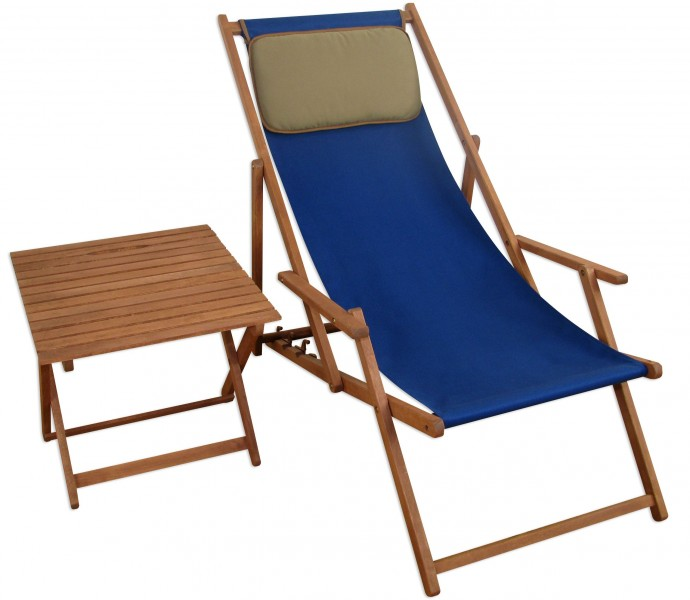 chaise longue terrasse en bois chaise longue transat pour jardin bleu table ebay. Black Bedroom Furniture Sets. Home Design Ideas