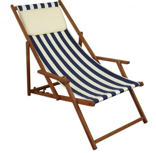 liegestuhl sonnenliege gartenliege holzliege strandliege deckchair 10 317 kh ebay. Black Bedroom Furniture Sets. Home Design Ideas