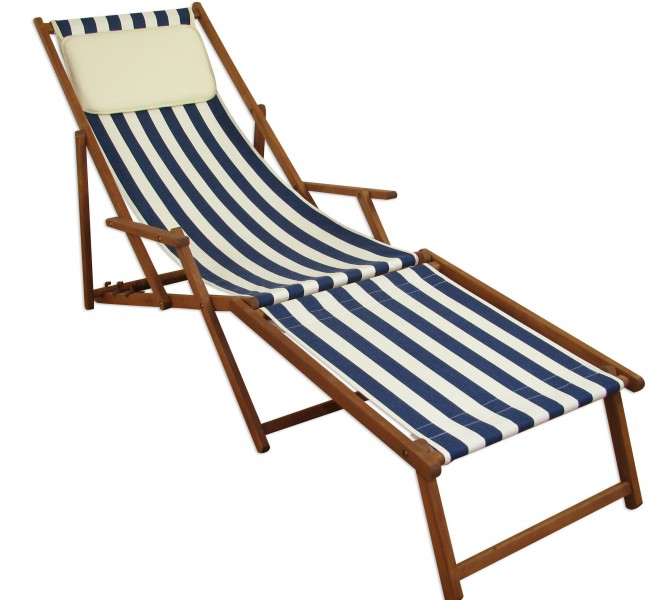 liegestuhl holzliege gartenliege deckchair strandliege sonnenliege 10 317 f kh ebay. Black Bedroom Furniture Sets. Home Design Ideas