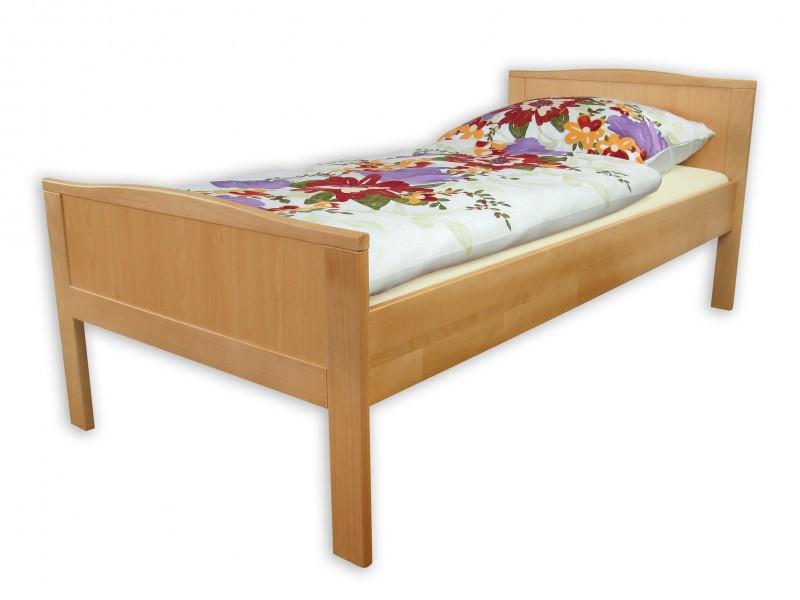 seniorenbett einzelbett buche extra hoch 90x200 cm mit rollrost ebay. Black Bedroom Furniture Sets. Home Design Ideas